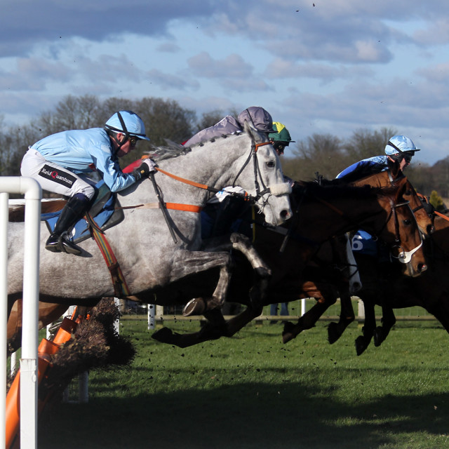 """Wetherby Hurdle Race1"" stock image"