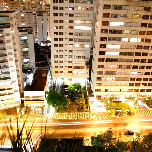 """""""Sao Paulo at night"""" stock image"""