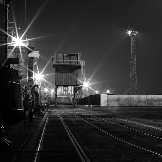 """Coal Dock, Belfast"" stock image"