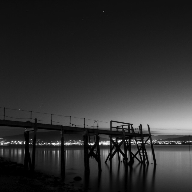 """Holywood Jetty"" stock image"