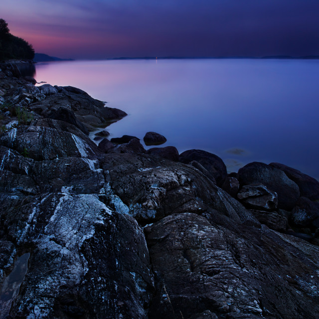 """Blue hour by baltic sea"" stock image"