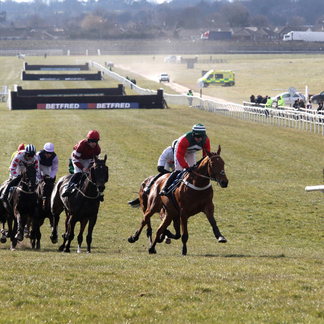 """Racing at Wetherby"" stock image"