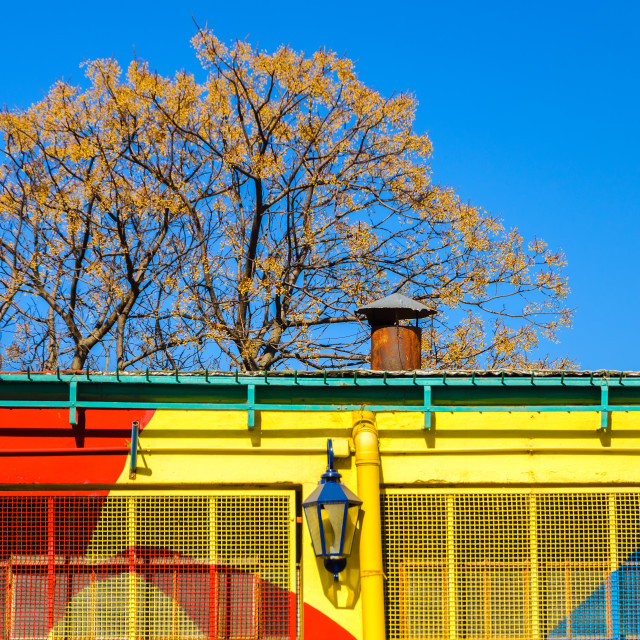 """Red, Yellow, and Blue Building"" stock image"