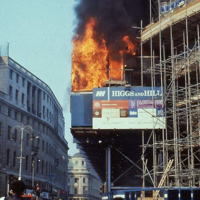 """Poll Tax Riots, London"" stock image"