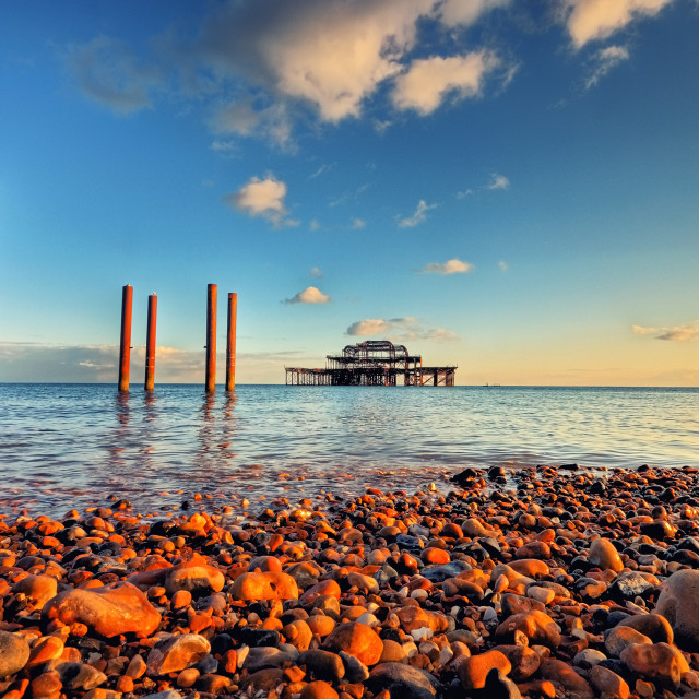 """Brightons West Pier"" stock image"