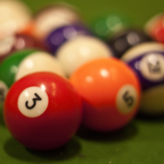 """Shooting Pool"" stock image"