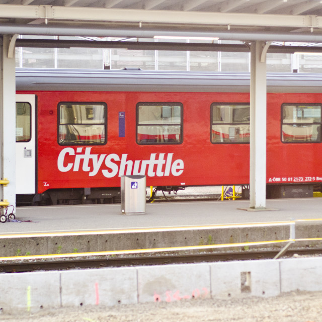 """Austrian City Shuttle Train"" stock image"
