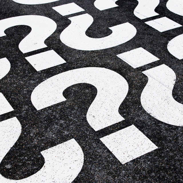 """Question marks"" stock image"