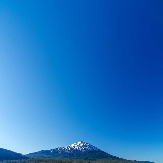 """Mount Bachelor and Sky"" stock image"