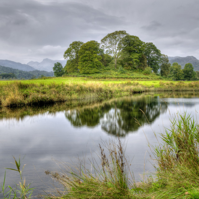 """River Brathay Cumbria"" stock image"