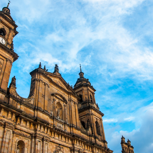 """""""Bogota Cathedral Front"""" stock image"""