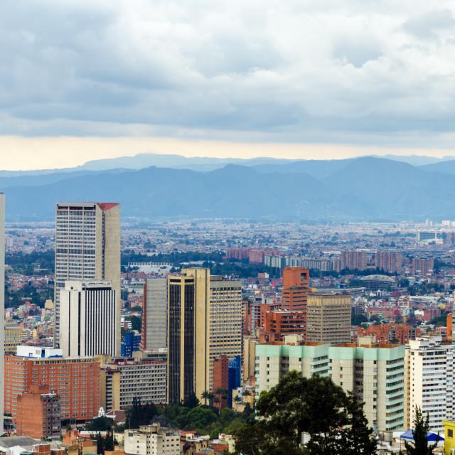 """Bogota, Colombia Skyline"" stock image"
