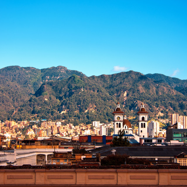 """Bogota and the Andes Mountains"" stock image"