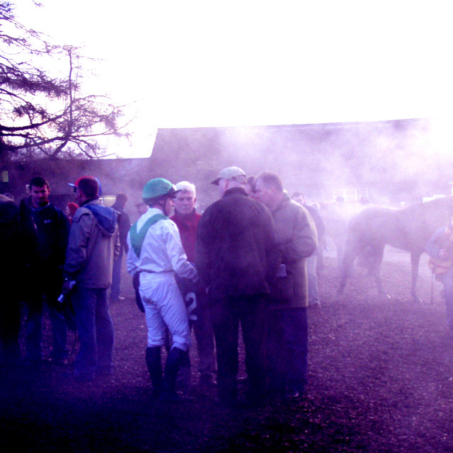 """After the race at Thurles2"" stock image"