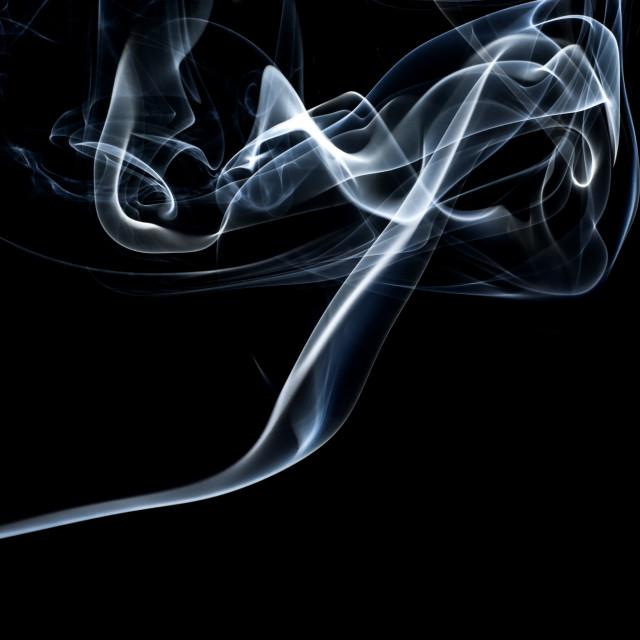 """""""Smoke on Black Background"""" stock image"""