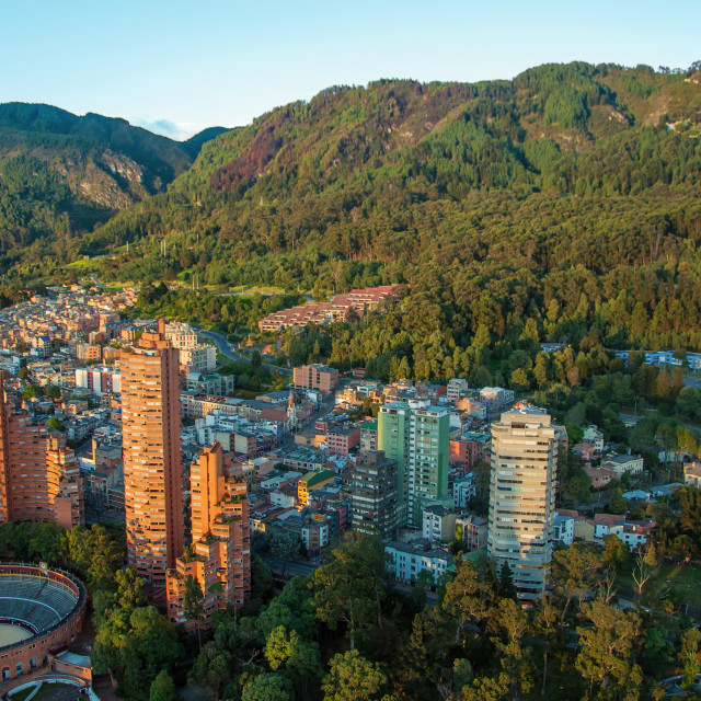 """""""Bogota and the Andes Mountains"""" stock image"""