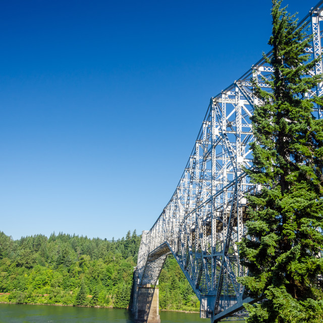 """Bridge Connecting Oregon and Washington"" stock image"