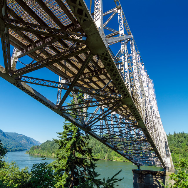 """Bridge Over Columbia River"" stock image"