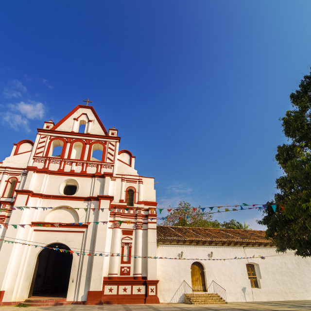 """""""Colonial Church in Mexico"""" stock image"""