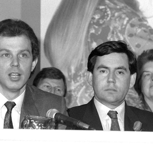 """Tony Blair and Gordon Brown"" stock image"