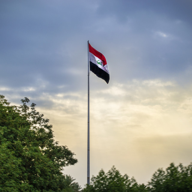 """Iraqi Flag"" stock image"