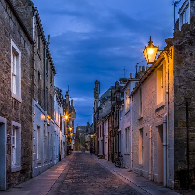 """College Street St Andrews"" stock image"