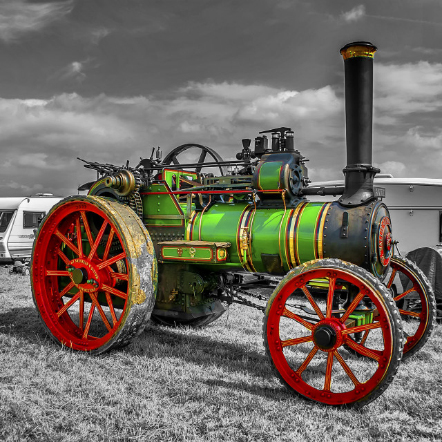"""""""Vintage Steam Traction Engine"""" stock image"""