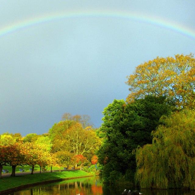 """Sefton Park Rainbow"" stock image"