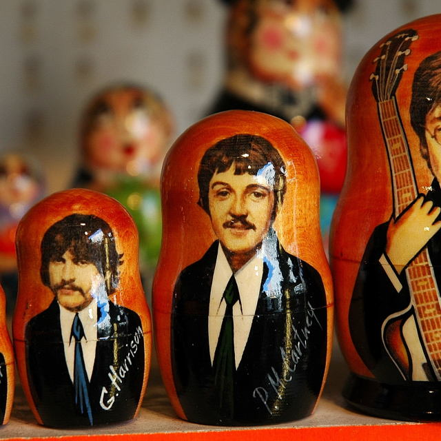 """Beatle Russian Dolls"" stock image"