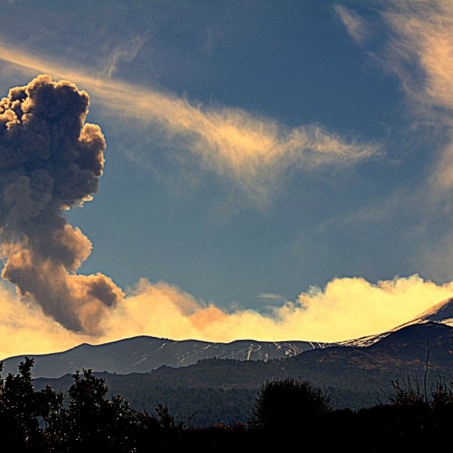 """Mount Etna Explosion"" stock image"