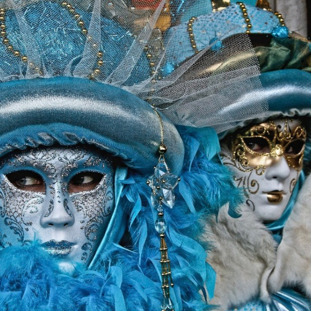 """The Blue Revelers At Carnival"" stock image"