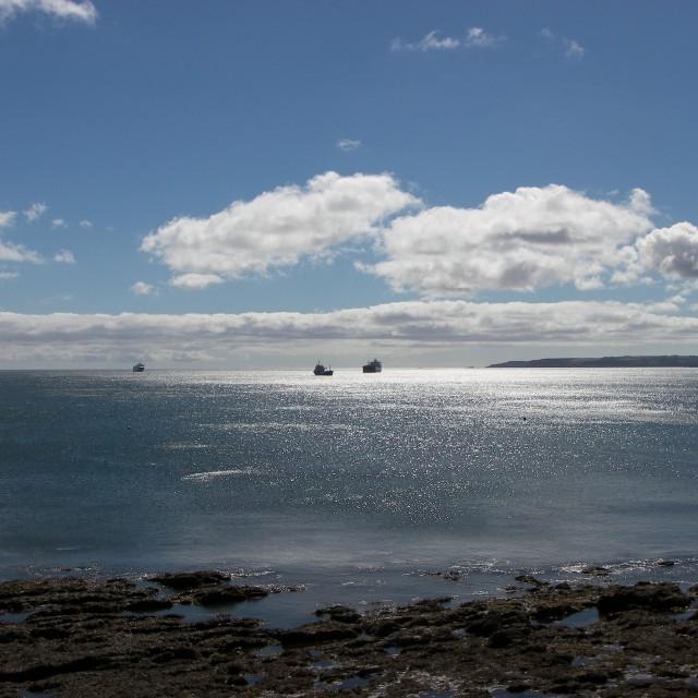 """Falmouth Bay"" stock image"