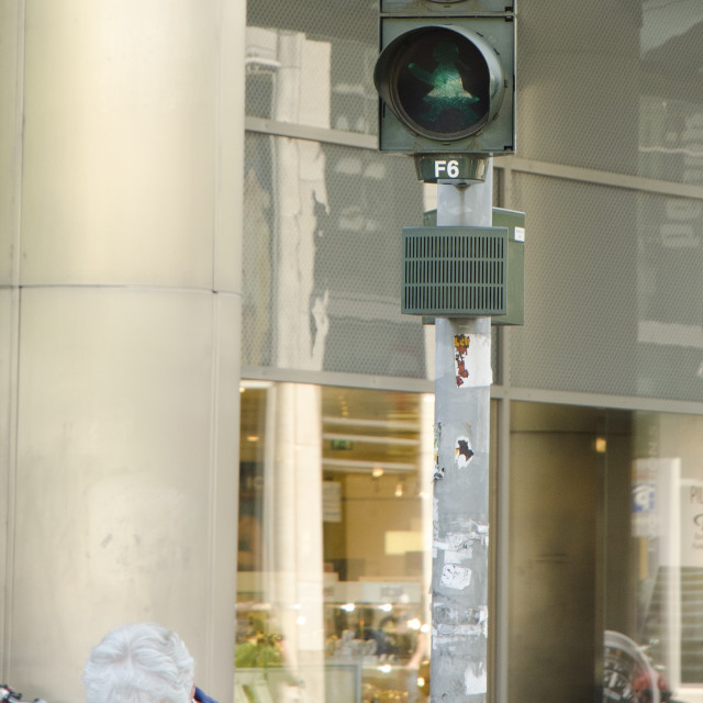 """""""Unusual signal control in Dresden, Germany"""" stock image"""