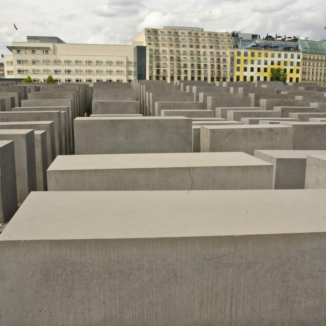 """""""Holocaust Memorial, Berlin"""" stock image"""