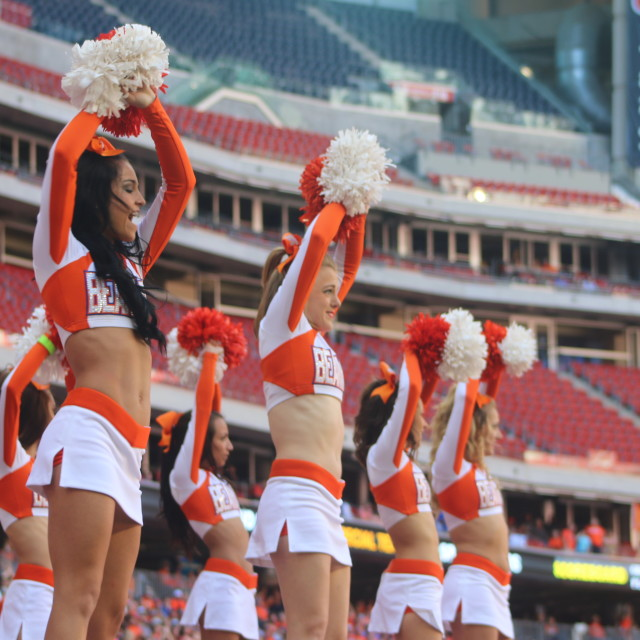 """Cheerleaders in Texas"" stock image"
