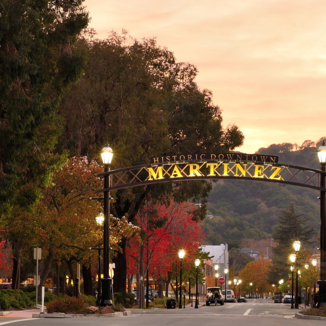 """Historic Downtown Martinez"" stock image"