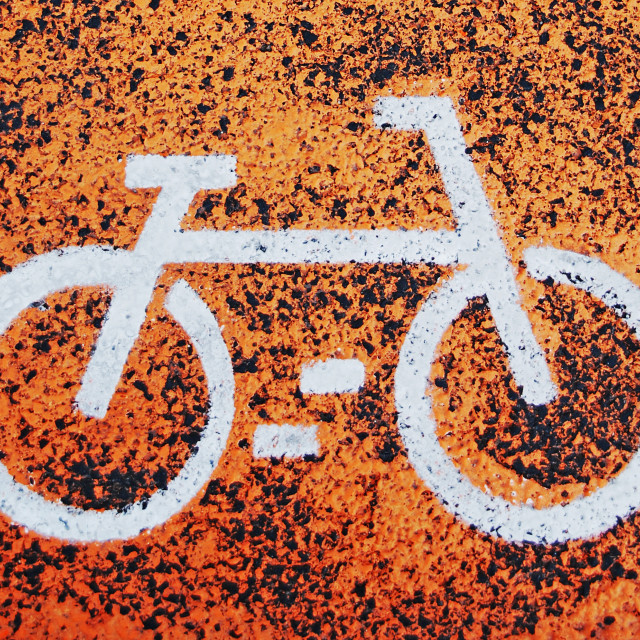 """Bicycle sign"" stock image"
