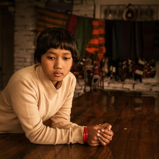 """Tibetan girl"" stock image"