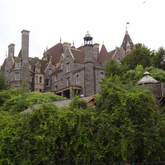 """Boldt Castle"" stock image"