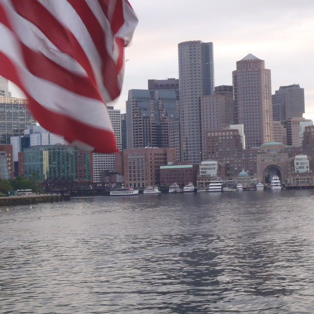 """Red White and Boston"" stock image"