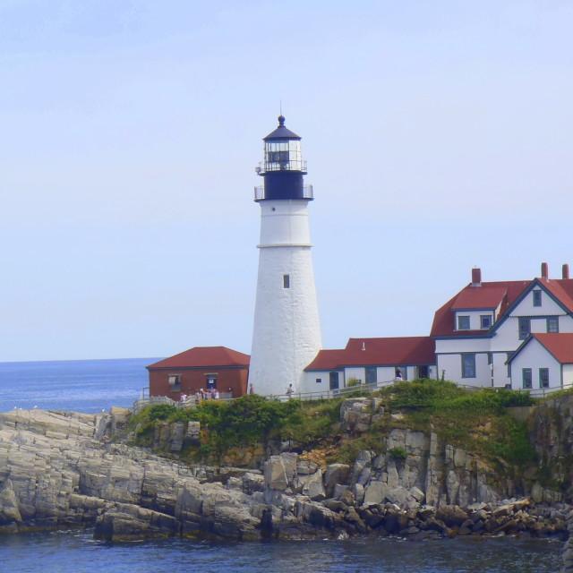"""Portland Head light in Cape Elizabeth Maine"" stock image"
