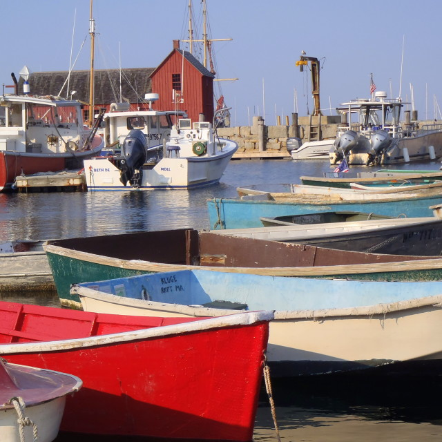"""Colorful Rockport"" stock image"
