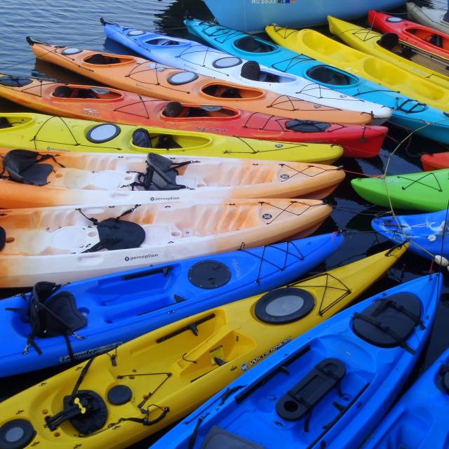 """""""kayak rainbow"""" stock image"""