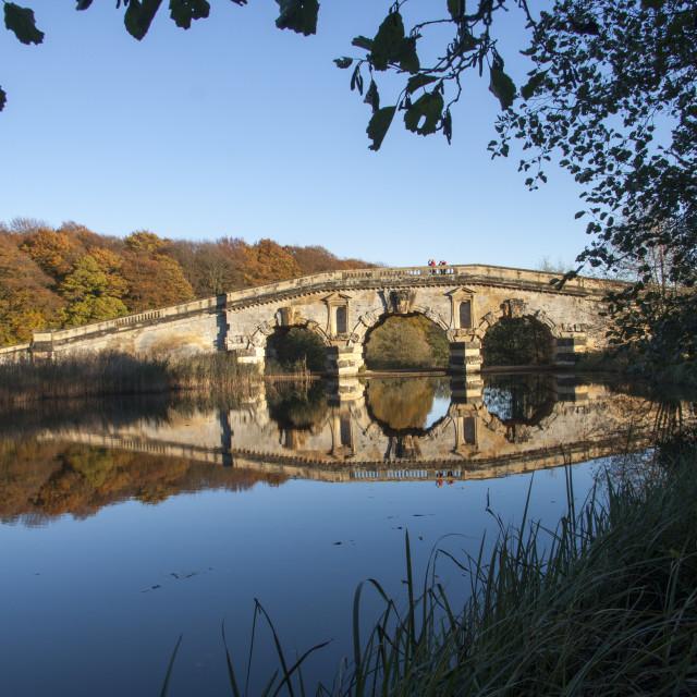 """Bridge and reflections"" stock image"
