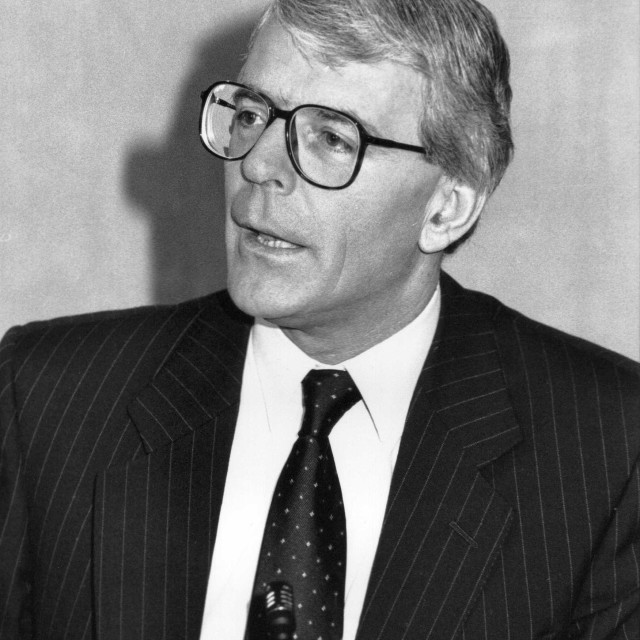 """Rt.Hon. John Major"" stock image"