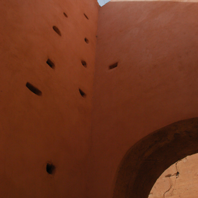 """Badi palace wall in Marrakesh"" stock image"