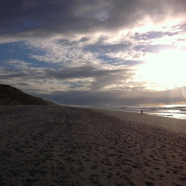 """Wide beach, wide sky"" stock image"