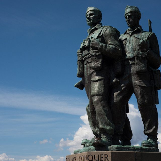 """40 Commando memorial"" stock image"