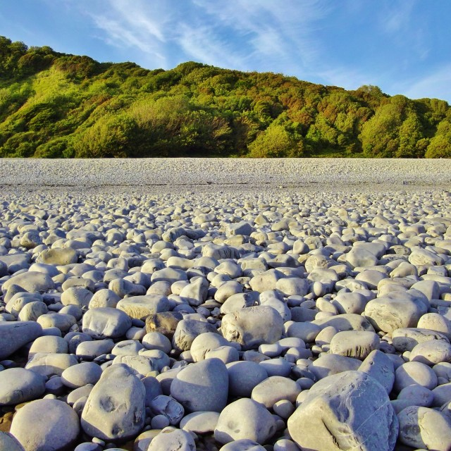 """Cold Knap Beach, Barry"" stock image"