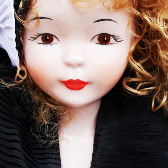 """Porcelain doll"" stock image"